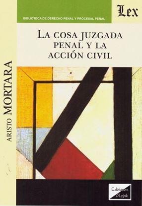Imagen de COSA JUZGADA PENAL Y LA ACCION CIVIL