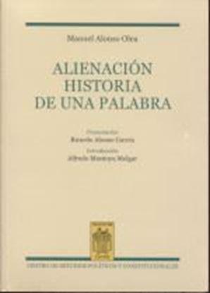 Imagen de ALIENACION. HISTORIA DE UNA PALABRA